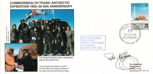 British Antarctic Territory FDC Sc 147 Signed Peter Jeffries Cachet Whole par...