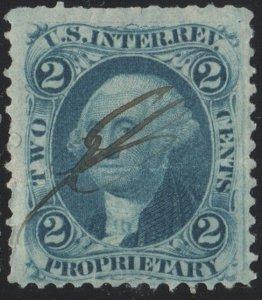 R13c 2¢ Revenue: Proprietary (1862) Used