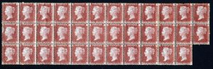 GB Queen Victoria 1873 1d Red Plate 177 PA-RK A MAGNIFICENT BLOCK OF 35 SG43 MNH
