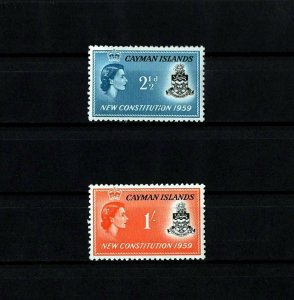 CAYMAN ISLANDS - 1959 - QE II - NEW CONSTITUTION - ARMS - MINT - MNH SET!