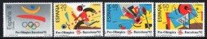 Spain 1988 MNH Stamps Scott 2571+B139-141 Sport Olympic Games Basketball Badmint