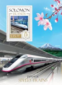 SOLOMON ISLANDS 2013 SHEET JAPANESE SPEED TRAINS slm13808b