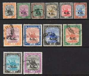 South Sudan 1936 KGVI OFFICIAL p/set (12v used CV