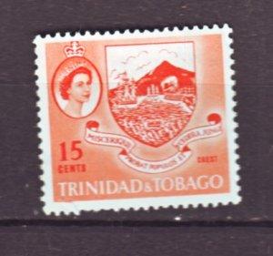 J22171 Jlstamps 1960 trinidad & tobago part of set mnh #96 crest of colony