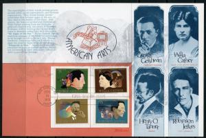 US 1973  4 COLOR FLEETWOOD AMERICAN ARTS  FIRST DAY CARD