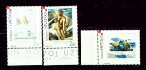 Croatia 505-07 MNH 2002 Modern Art