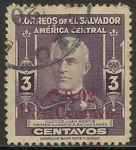El Salvador 1952 Scott# 621 Used