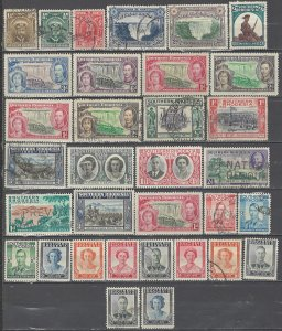 COLLECTION LOT # 4424 SOUTHERN RHODESIA 33 STAMPS 1924+ CLEARANCE CV+$14