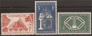 Luxembourg - 1956 European Coal & Stell Community - 3 Stamp Set MNH #315-7