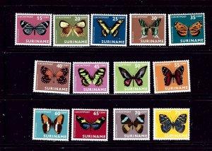 Surinam C42-54 MH 1972 Butterflies