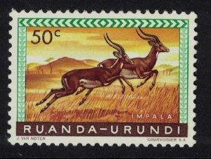 Ruanda-Urundi Impala Antelopes 50c SG#206 MI#164A