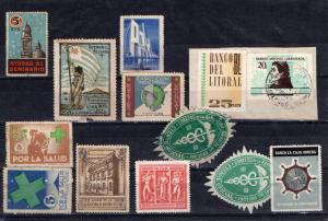 URUGUAY LOT OF POSTER STAMPS CINDERELLA OFFICIAL SEAL ETC