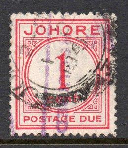Malaya Johore 1938 Versand Due 1c Sg D1 Gebraucht