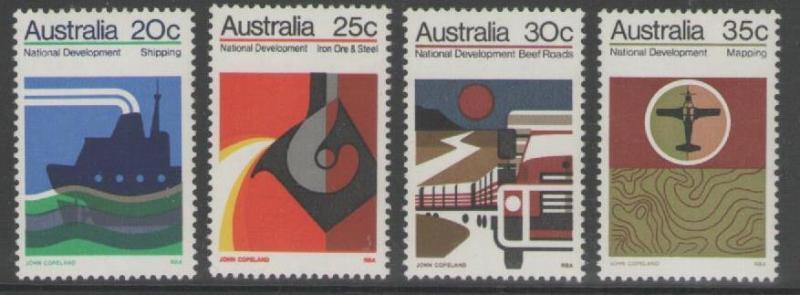 AUSTRALIA SG541/4 1973 NATIONAL DEVELOPMENT MNH