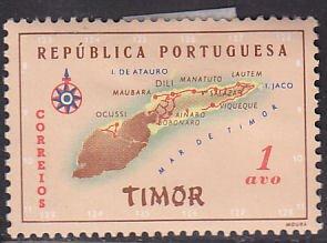 Timor 280 Map of Timor 1956