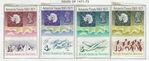 British Antarctic Territory mnh S.C.#  39 - 42