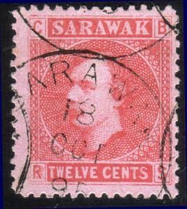 SARAWAK 1875 12c SG7 fine used.............................................12929
