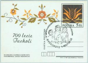 67914 - POLAND  - POSTAL HISTORY -  STATIONERY CARD:  CHESS scacchi 1987