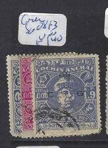 INDIA NATIVE STATE COCHIN (P0807B) SG O81-3   VFU