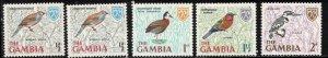 GAMBIA Scott # 215-18 MH - Various Birds Part Set