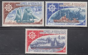 French Southern Antarctic Terr., Sc C41-C43, MNH, 1976, Marion-Dufresne