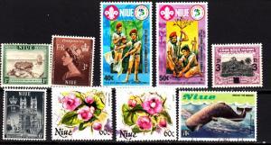 Niue 9 different