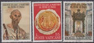Vatican City #449-51 MNH F-VF (ST831L)