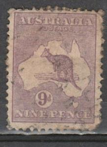 #9 Australia Used 9p purple