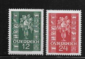 AUSTRIA, 388-389, MINT HINGED,  ROSE & ZODIAC SIGNS