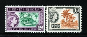 GILBERT & ELLICE ISLANDS QE II 1964-65 Full Pictorial Set SG 85 & SG 86 MINT