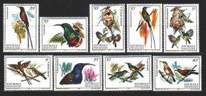 Rwanda. 1983. 1214-23. bird fauna. MNH.