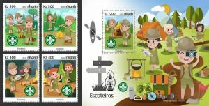 Z08 IMPERF ANG190105ab ANGOLA 2019 Scouts MNH ** Postfrisch