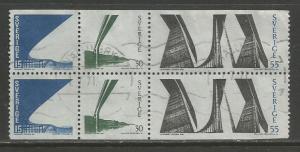 Sweden   #824a  Bklt Pane  Used  (1969)