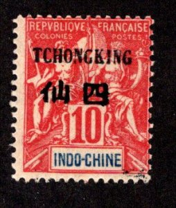 FRANCE - OFFICES IN CHINA - TCHONGKING SC# 5  AVF/MNG  1903