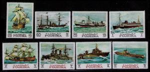 FUJEIRA 1968 SHIPS, SAILING SHIPS, WARSHIPS Mi #234/242 MNH SET 8 STAMPS