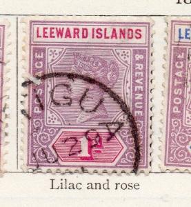 Leeward Islands 1890 Early Issue Fine Used 1d. 269632
