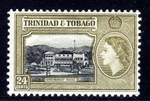 TRINIDAD  AND TOBAGO  --  1953-59    sg275    24 cents  shades--    LMM   b