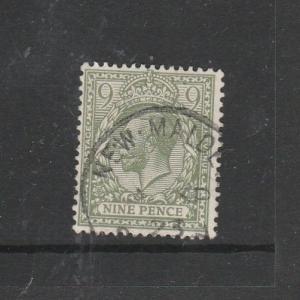 GB 1912/24 Royal cypher 9d Green FU SG 393a/b