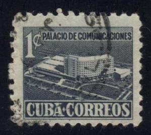 Cuba #RA16 Proposed Communications Building, used (0.25)
