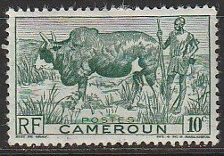 1946 Cameroun - Sc 304 - MH VF - 1 single - Zebu and Herder
