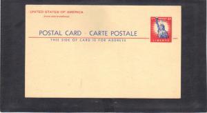 Postcard UX45 4c Statue of Liberty Mint CV1259
