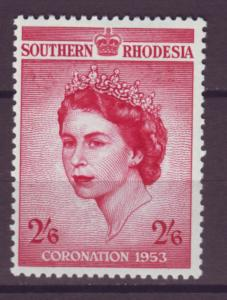 J20946 Jlstamps 1953 south rhodesia set of 1 mlh #80 royality