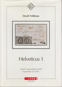 Helveticus 1 Collection of Swiss Cantonals, David Feldman Auction Catalogue