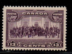 Canada Sc 224 1935 13 c Charlottetown Conference stamp mint NH