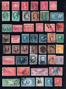 US STAMP ACCUMULATE STAMP COLLECTION LOT #T1