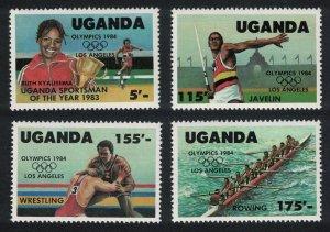 Uganda Rowing Wrestling Olympic Games Los Angeles 4v SG#442-445
