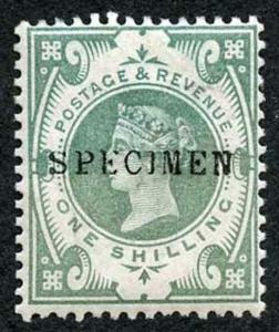SG211s 1/- Jubilee Opt Specimen the colour has run possible due to an Experiment