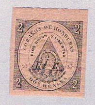 Honduras 2 MLH Coat of arms 1865 (BP3085)