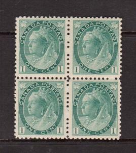Canada #75 XF/NH Block  **With Certificate**