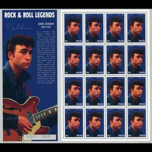PALAU 1995 - Scott# 384a Sheet-John Lennon NH stuck